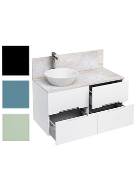 Related Britton Aqua Cabinets D1000 White Wall Hung Units With Cone Basin