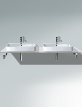 Related Duravit Happy D2 480mm White 2 Cut-Out Console - H2015C