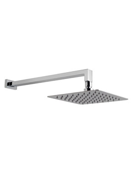 Aquablade Single Function 200mm Square Shower Head With Arm