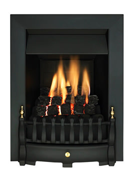 Valor Blenheim Slimline Manual Control Inset Gas Fire Black