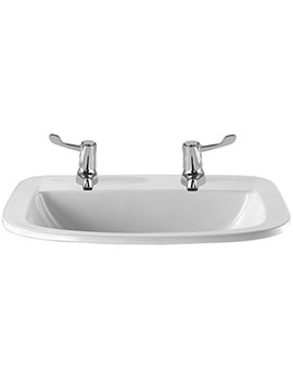 Twyford Sola Medical Countertop Washbasin 560mm - SA4562WH