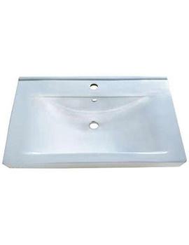 Related Aqva Lyon Square Countertop Wash Basin 800mm - BBD Lyon 80