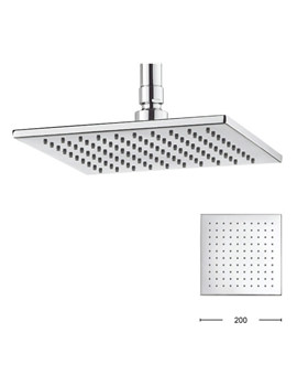Zion 200mm Square Fixed Shower Head - FH220C