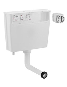 Pneumatic Operated Concealed Dual Flush Cistern - 109.724.21.1