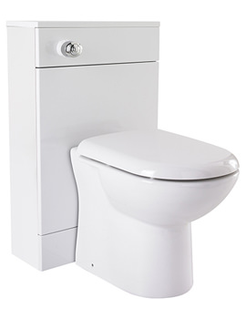 Related Lauren High Gloss White 600 x 300mm Back To Wall WC Unit