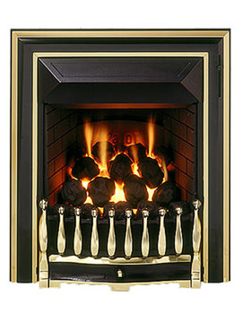 Valor Visage Full Depth Slide Control Inset Gas Fire Black - 0564011