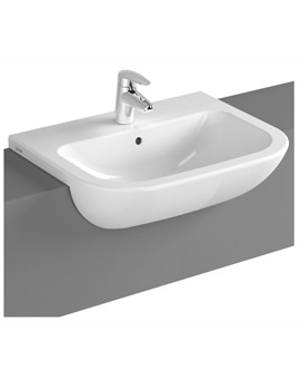 VitrA S20 550 x 440mm 1 Tap Hole Semi-Recessed Basin - Image