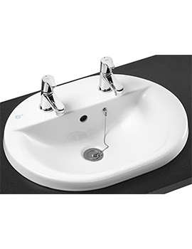 Ideal Standard Concept Oval 550mm 2 Taphole Countertop Basin