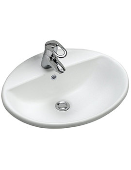Refresh 550 x 450mm 1 Tap Hole Countertop Basin -RE4561WH