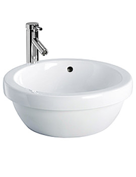 Twyford Visit Round Lay On Basin 460 x 460mm White - GT4740WH