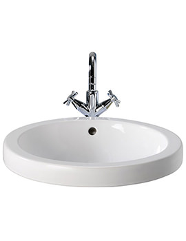 Visit Countertop Round Basin 460 x 460mm - GT4510WH