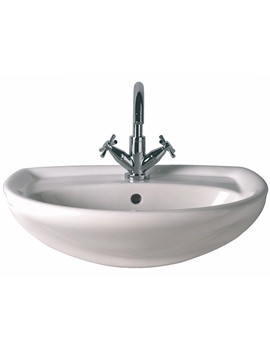 Galerie 1 Tap Hole Semi Recessed Basin 560 x 435mm