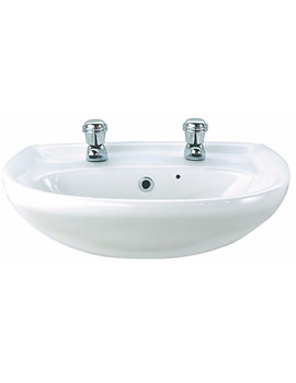 Galerie Optimise 1 Tap Hole Semi Recessed Basin 550 x 405mm