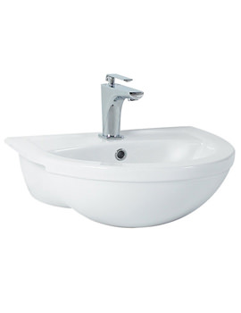 Phoenix Emma Semi Recessed Basin 520mm x 420mm - EM026