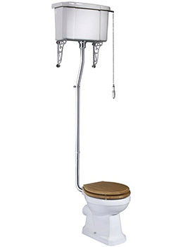 Vitoria 438mm WC Pan With High Level Cistern