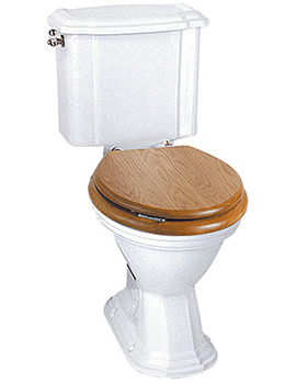 Oxford Close Coupled WC Pan And Cistern White - OX1WCC1030