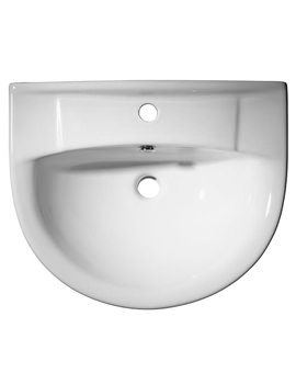 Micra 1 Tap Hole Semi-Countertop Basin 565mm - SCSB100S