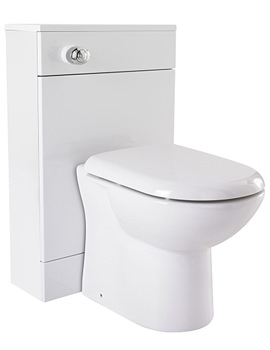 Related Lauren High Gloss White Back To Wall WC Unit 500 x 330mm - VTY330