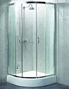 Quadrant Shower Enclosure 800mm Polished Silver By Aqualux