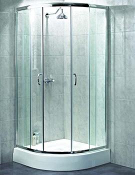 Shine Quadrant Shower Enclosure 800mm Silver By Aqualux