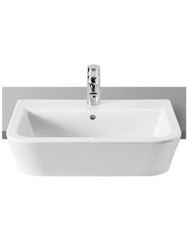 The Gap White Semi-Recessed Basin 560mm Wide - 32747S000