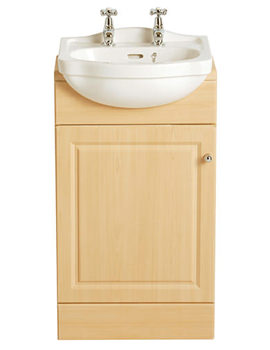 Rhyland Cloakroom Semi-Recessed 2 Taphole Basin - PRHW372