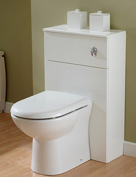 Related Essential Gem Back-To-Wall WC Furniture Unit 535x766mm - GEM003W