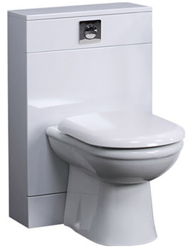 Essential Pearl Back To Wall WC Furniture Unit 500mm x 800mm - EF116W