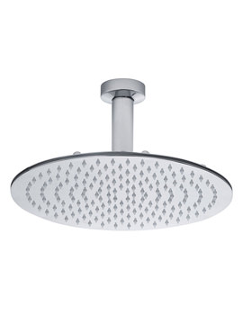 Short Ceiling Arm With Round 300mm Shower Head