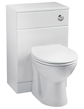 Gloss White WC Unit Including Concealed Cistern 500 x 300mm
