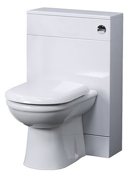 Related Lauren White Minimalist 500mm Back To Wall WC Unit - VTYW200