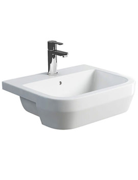 Britton Curve S30 550mm Semi Recessed Basin