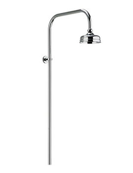 Aquatique Exposed Fixed Height Shower Drencher Head Chrome