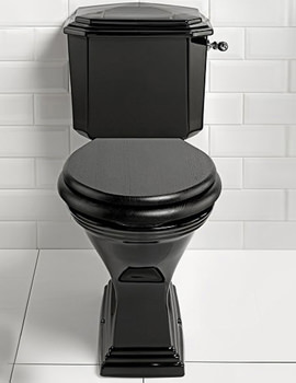 Imperial Astoria Deco Round With Close Coupled Cistern - Black