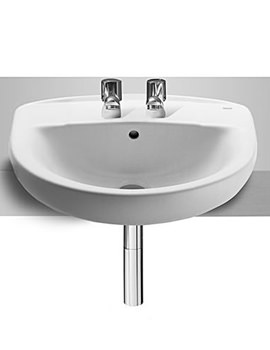 Roca Laura Semi Recessed 2 Tap Holes Basin 510mm Wide - 32739F000