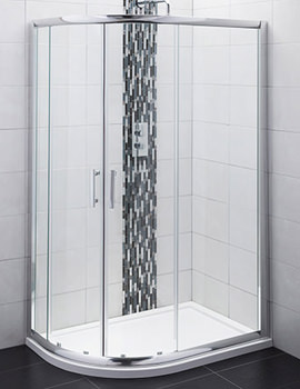 Offset Quadrant Shower Enclosure 1000 x 800mm - AQU108