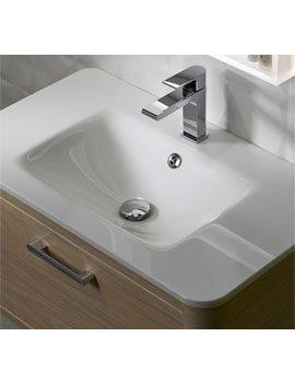 Moment 800mm Glass Ceramic Basin White