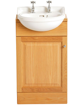 Dorchester 475 x 395mm Cloakroom Semi-Recessed 1 Taphole Basin