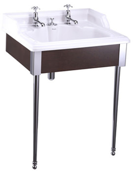 Related Burlington Basin For Invisible Overflow And Waste With Mahogany Stand