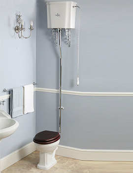 Balasani Old English White High Level WC With Cistern