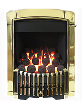 Related Flavel Caress Remote Control Contemporary HE Gas Fire Brass - FHEC15RN