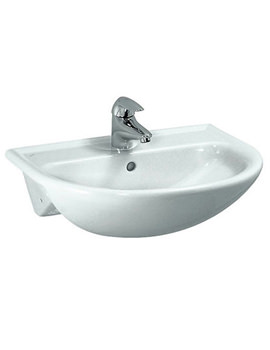 Pro B 560 x 440mm Semi Recessed Basin With 1 Tap Hole