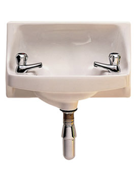 Twyford Parmis 2 Tap Hole Semi Recessed Handrinse Basin 500 x 300mm