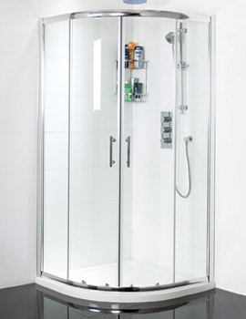 Twin Door Quadrant Shower Enclosure 800mm x 800mm - SE018