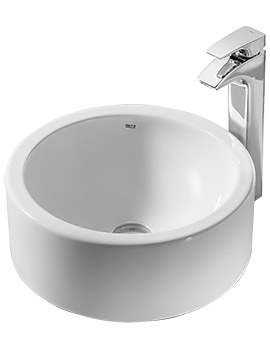 Terra White On Countertop Basin 390mm Dia - 32722D000