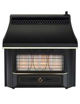 Valor Black Beauty Radiant Top Control Outset Gas Fire - 05347A1