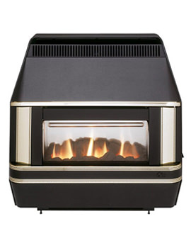 Valor Heartbeat Oxysafe Outset Gas Fire Black-Gold - 0533901