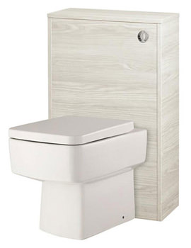 Related Hudson Reed Horizon White Sawn Oak Back To Wall WC Unit - CAB243