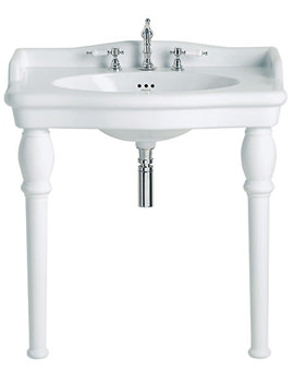 Victoria Single Console 3 Taphole Basin - PVEW463