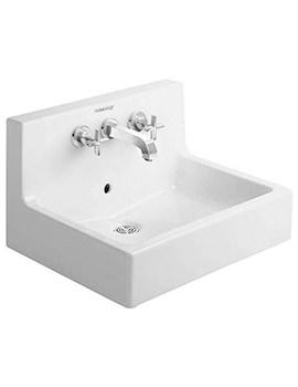 Related Duravit Vero White 600 x 470mm 3 Tap Hole Washbasin - 0453600000